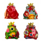 "Lot de 4 magnets mini motif grenouille ""Freddy"""